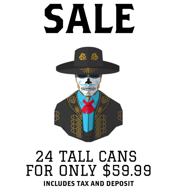 Descendants Brewery El Buscador sale poster, 24 tall cans for only 59.99