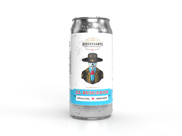 Kitchener breweries El Buscador beer can with water marks