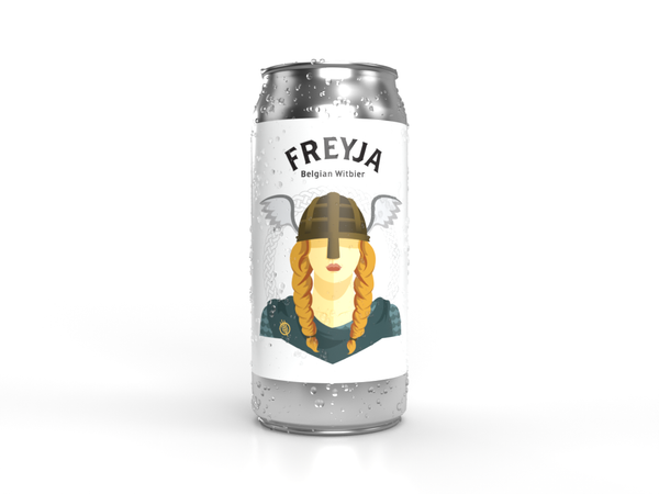 Descendants craft beer Freyja can with water marks