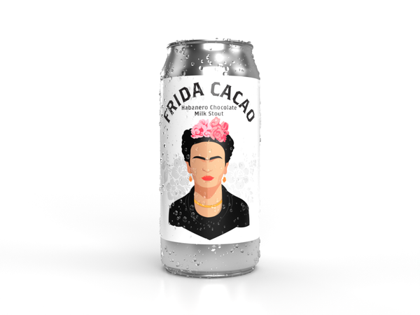 Local craft beer near you, a can tribute to Frida Cacao