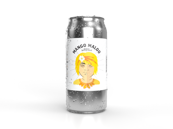 Mango Maloo can with water drops from Descendants Brewery
