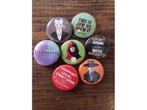 Collection of buttons available on Descendants online shop