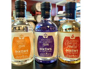 three 200ml bottles of gin and vodka mixers available at Descendants Beer & Beverage Co.
