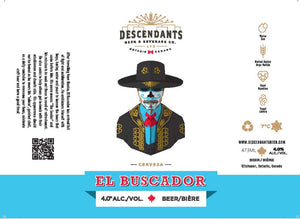 Descendants craft beer El Buscador can label