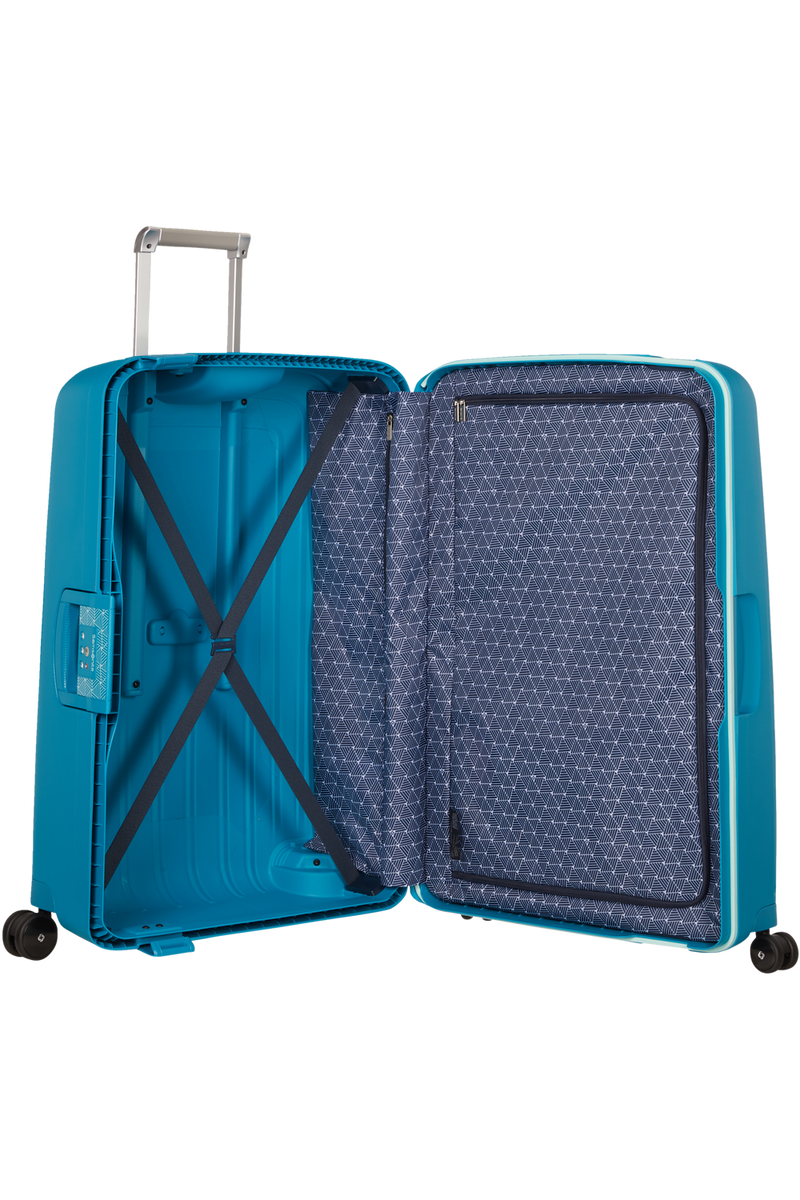 Samsonite - valise S'CURE Spinner 75cm - coloris bleu petrole capri