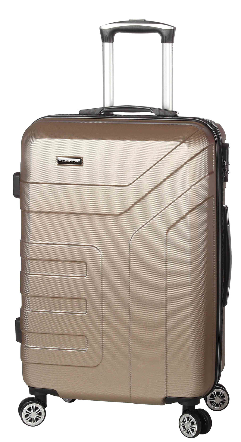 Madisson - Valise cabine rigide en ABS champagne assortis - 87104/LOW