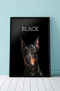 Black - Unique Poster for your pet
