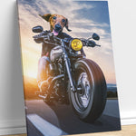 Motorcycle - A unique painting about your pet