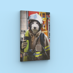 Firefighter - A unique painting about your pet
