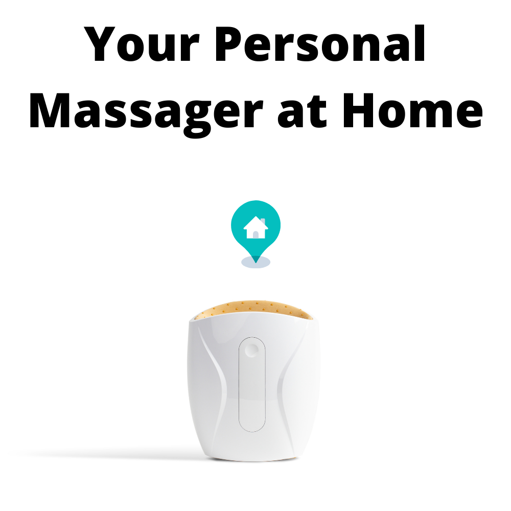 The Hand Massager, white hand massager, personal hand massager at home