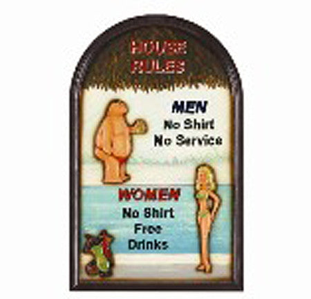 Wall Decor House Rules 638