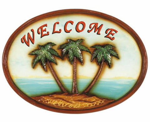 Outdoor Decor Welcome Palm Trees