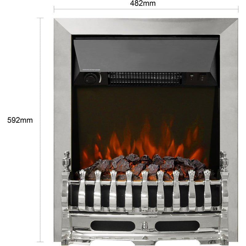 BeModern Bayden 01947X Coal Bed Inset Fire - Chrome