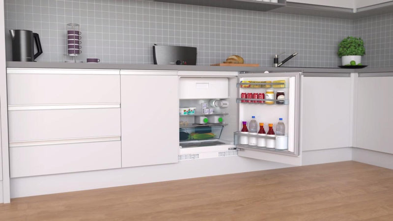 Bosch Serie 4 KUL15A60GB Integrated Under Counter Fridge with Ice Box - Fixed Door Fixing Kit - White - A++ Rated