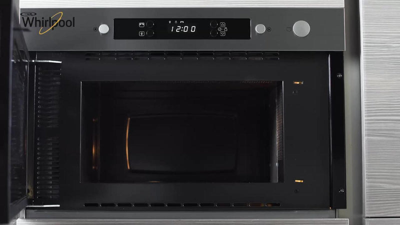Whirlpool AMW423/IX Built In Microwave - Stainless Steel