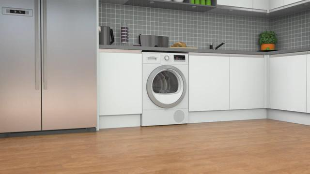 Bosch Serie 4 WTR85V21GB 8Kg Heat Pump Tumble Dryer - White - A++ Rated