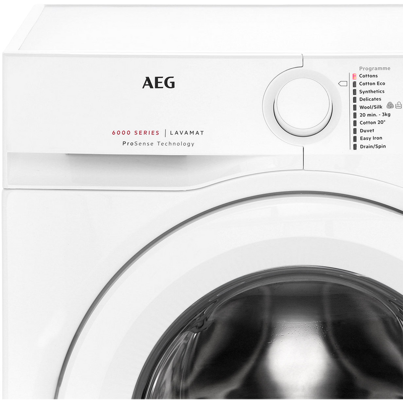 AEG ProSense Technology L6FBI841N 8Kg Washing Machine with 1400 rpm - White - A+++ Rated