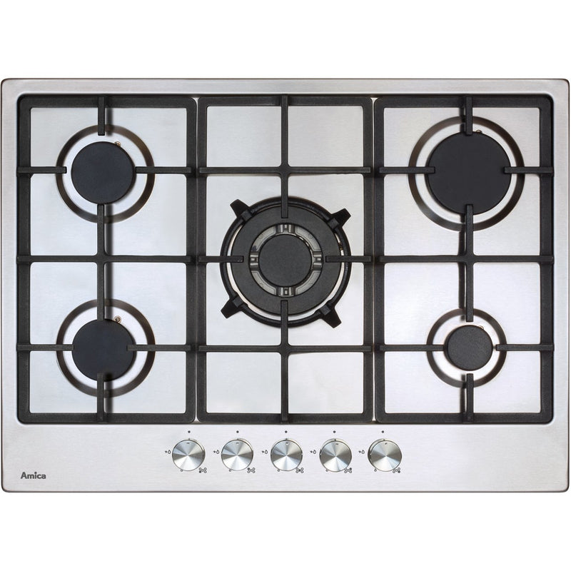 Amica AGH7100SS 68cm Gas Hob - Stainless Steel