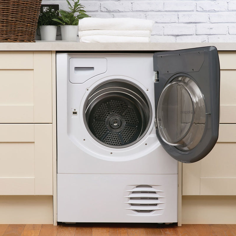 Hotpoint Aqualtis AQC9BF7E1 9Kg Condenser Tumble Dryer - White / Tungsten - B Rated