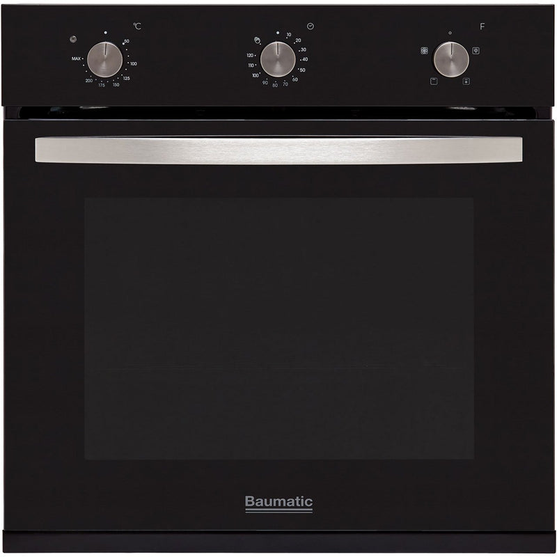 Baumatic BOFMU604B Built In Electric Single Oven - Black - A Rated