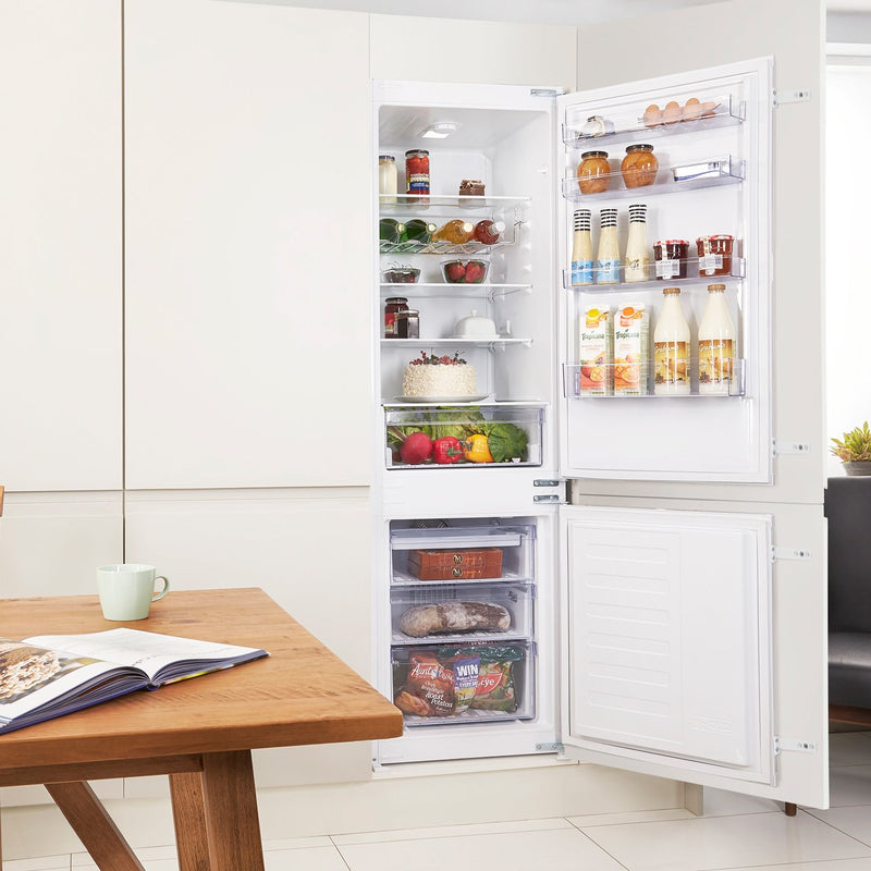 Beko BCFD173 Integrated 70/30 Frost Free Fridge Freezer with Sliding Door Fixing Kit - White - A+ Rated