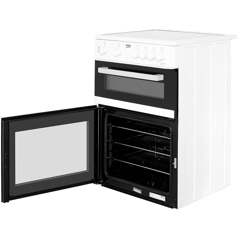 Beko KDC611W 60cm Electric Cooker with Ceramic Hob - White - A/A Rated