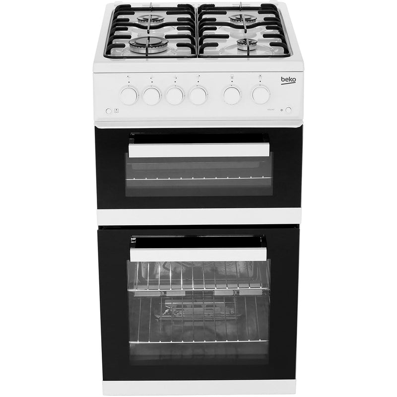 Beko KDG582W 50cm Gas Cooker with Full Width Gas Grill - White - A+ Rated
