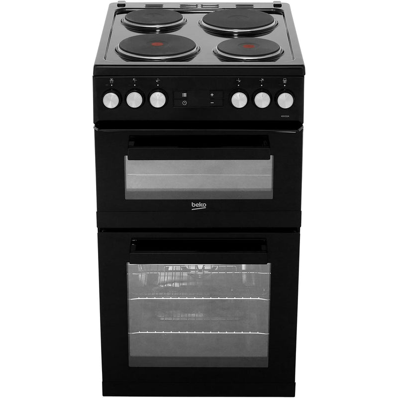 Beko KDV555AK 50cm Electric Cooker with Solid Plate Hob - Black - A/A Rated