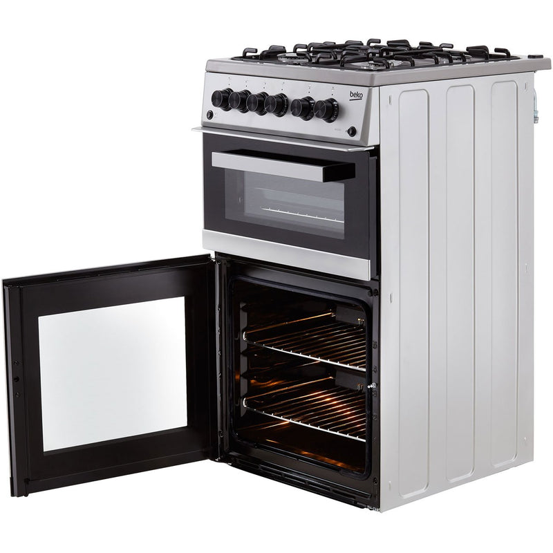 Beko KDVG592W 50cm Gas Cooker with Full Width Gas Grill - White - A+/A Rated