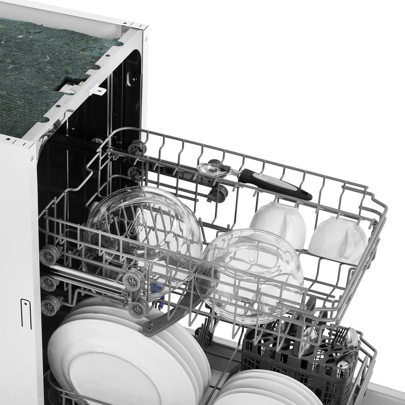 Belling IDW45 Fully Integrated Slimline Dishwasher - Stainless Steel Control Panel with Fixed Door Fixing Kit - A++ Rated