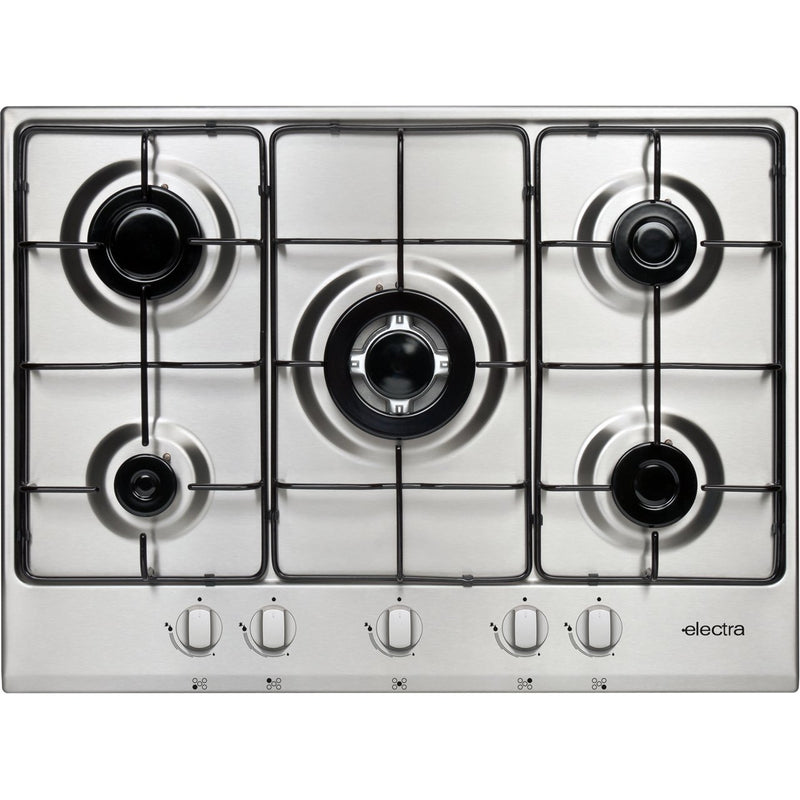 Electra BIGH5SS 70cm Gas Hob - Stainless Steel