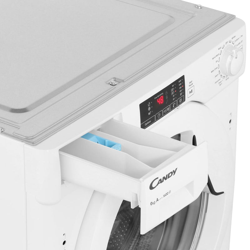 Candy CBWM916D Integrated 9Kg Washing Machine with 1600 rpm - White - A+++ Rated