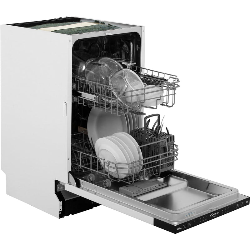 Candy CDI2L952 Fully Integrated Slimline Dishwasher - Black Control Panel with Fixed Door Fixing Kit - A++ Rated