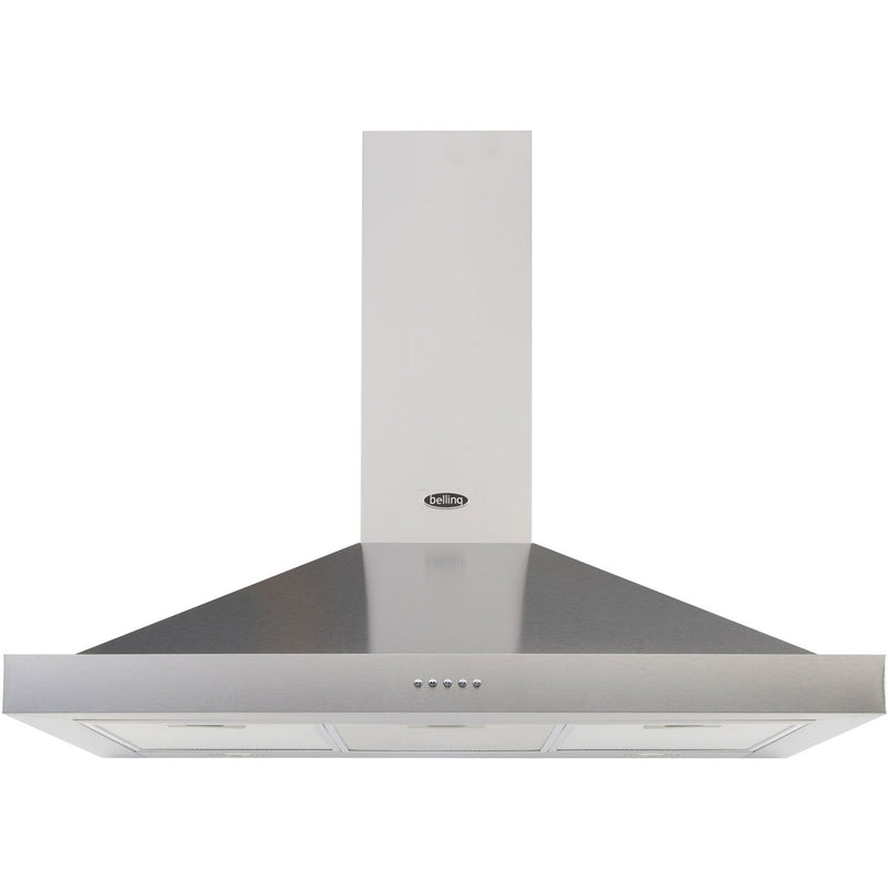 Belling COOKCENTRE 100 CHIM 100 cm Chimney Cooker Hood - Stainless Steel - D Rated