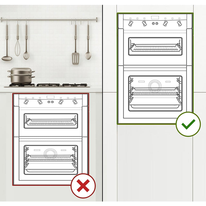 Indesit Aria IDD6340IX Built In Double Oven - Stainless Steel - A/A Rated