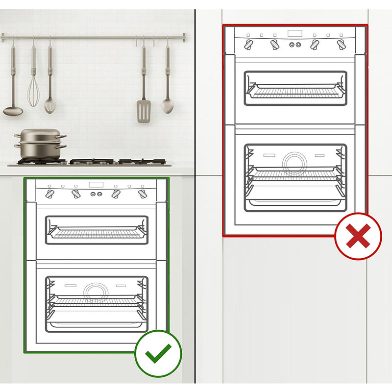 Zanussi ZOF35601XK Built Under Double Oven - Stainless Steel - A/A Rated