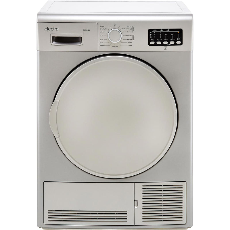 Electra TDC8112S 8Kg Condenser Tumble Dryer - Silver - B Rated