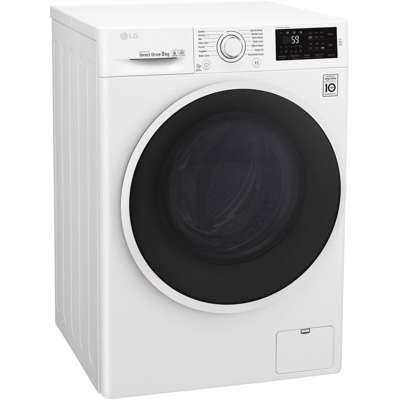 LG F4J608WN 8Kg Washing Machine with 1400 rpm - White - A+++ Rated