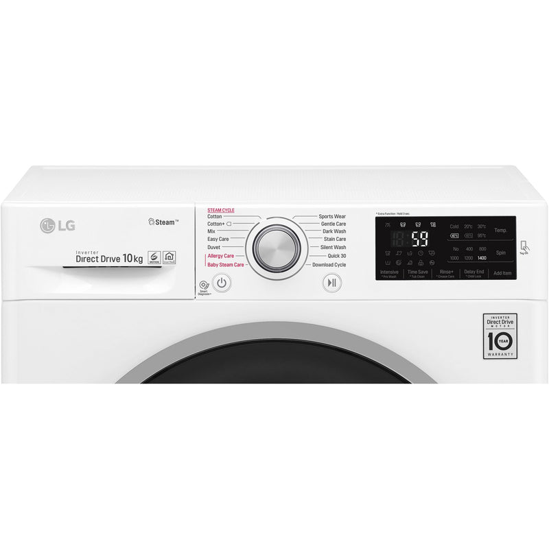 LG J6 F4J610SS 10Kg Washing Machine with 1400 rpm - Graphite - A+++ Rated