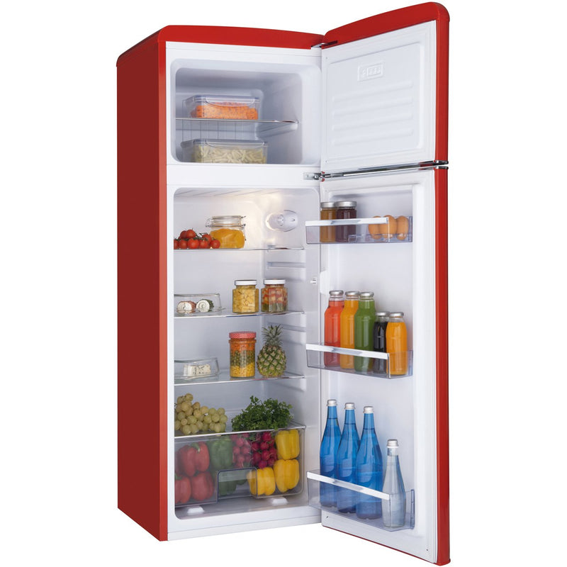 Amica FDR2213R 70/30 Fridge Freezer - Red - A+ Rated