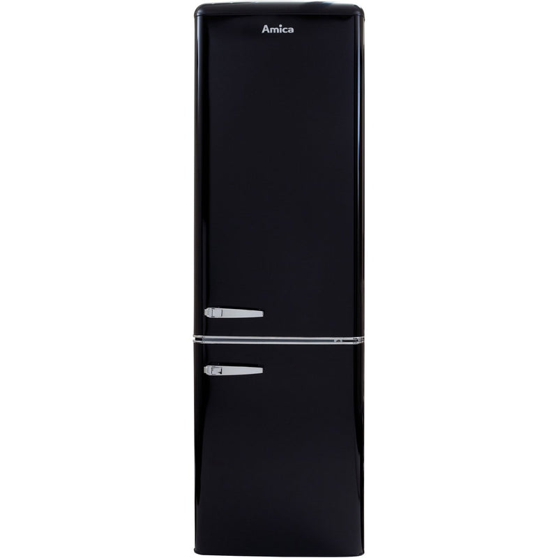 Amica FKR29653B 60/40 Fridge Freezer - Black - A+ Rated