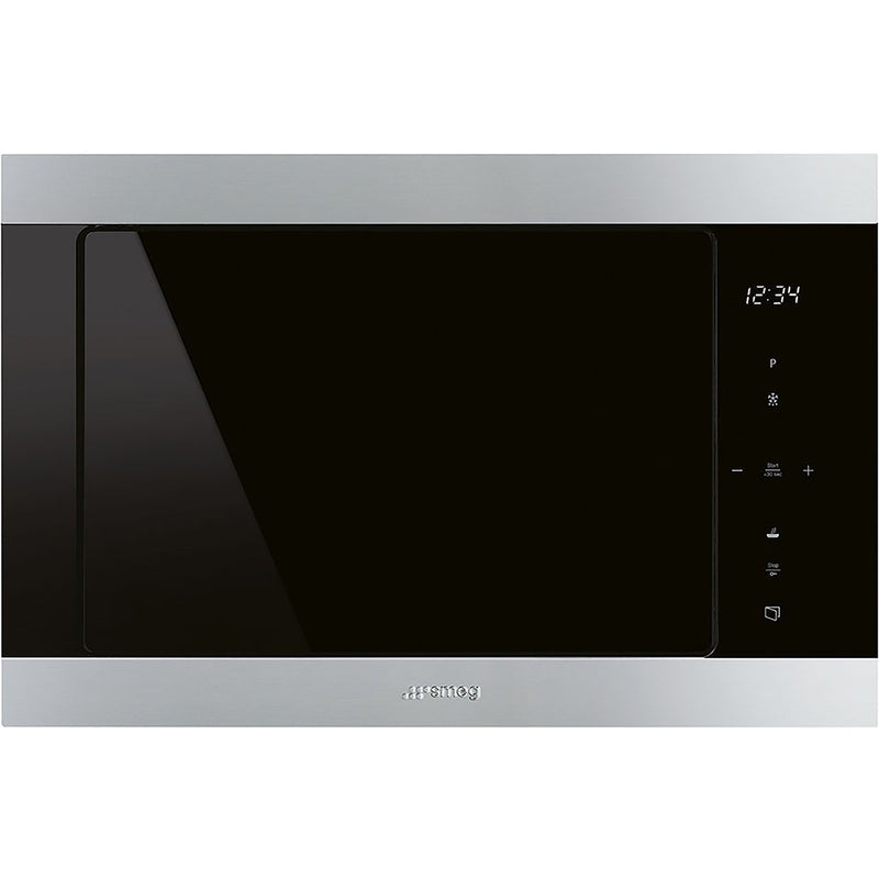 Smeg Classic FMI325X Built In Microwave With Grill - Stainless Steel