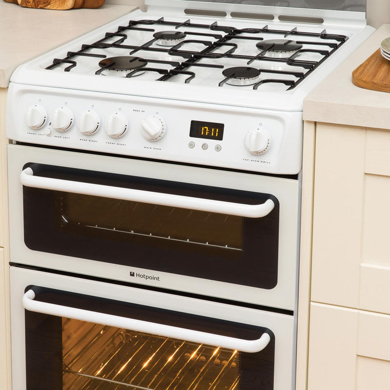 Hotpoint HAGL60K 60cm Gas Cooker - Black - A+/A Rated