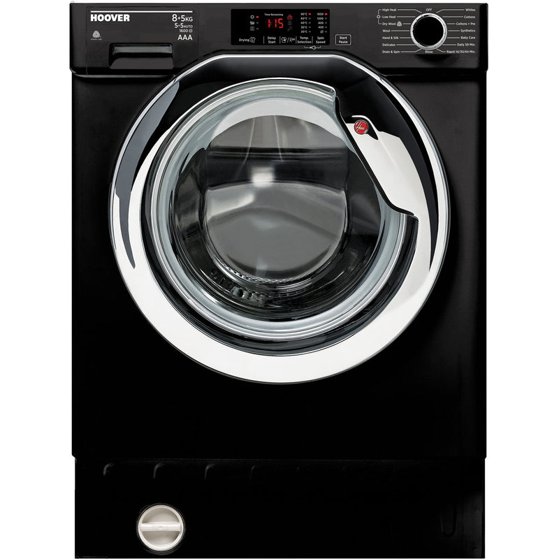Hoover H-WASH 300 HBWD8516DCB/1 Integrated 8Kg / 5Kg Washer Dryer with 1600 rpm - Black - A Rated
