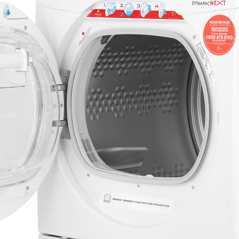Hoover Dynamic Next Advance DXC10TCER 10Kg Condenser Tumble Dryer - Graphite / Chrome - B Rated