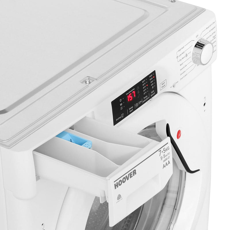 Hoover H-WASH 300 HBWD7514DA Integrated 7Kg / 5Kg Washer Dryer with 1400 rpm - White - A Rated