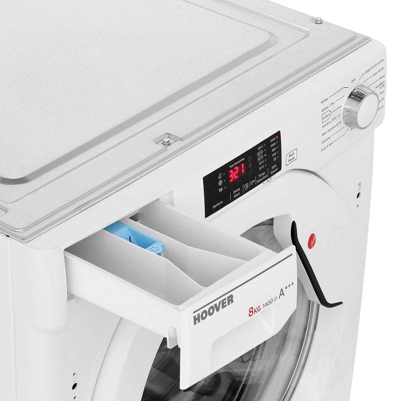 Hoover H-WASH 300 HBWM814D Integrated 8Kg Washing Machine with 1400 rpm - White - A+++ Rated