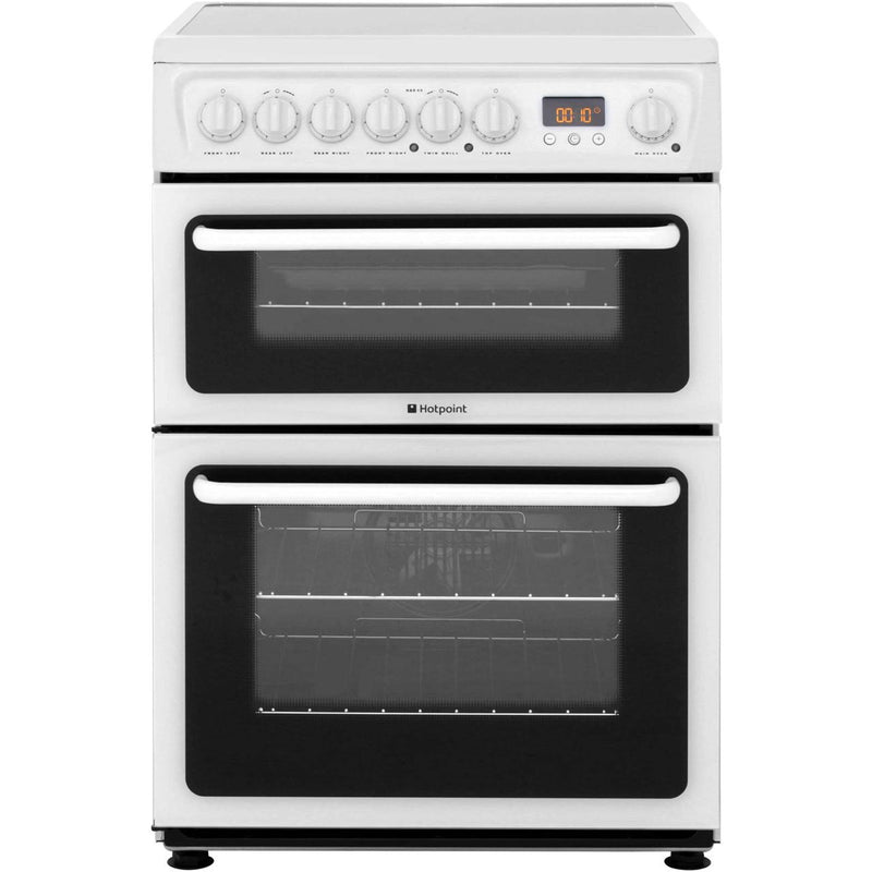 Hotpoint Newstyle HAE60PS Electric Cooker with Ceramic Hob - White - B/B Rated