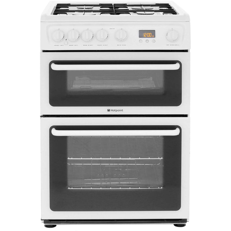 Hotpoint HAG60P 60cm Gas Cooker with Variable Gas Grill - Polar White - A+/A Rated