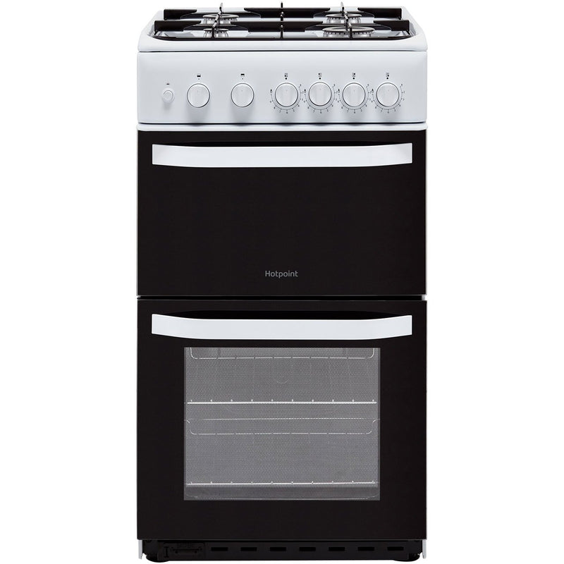 Hotpoint Cloe HD5G00KCW 50cm Gas Cooker with Full Width Gas Grill - White - A Rated